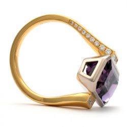 ametrine and diamond cocktail ring