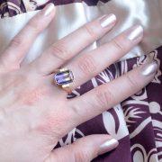 ametrine and diamond cocktail ring
