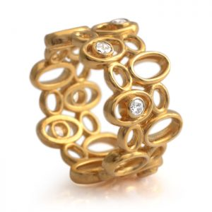Yellow Gold Vermeil Bubble Ring