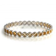 Silver and gold plated unity bangle