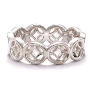 silver lattice ring