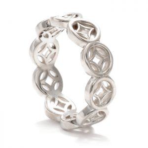 silver lattice ring