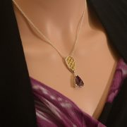 sterling silver pendant with super 7 amethyst